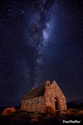 Commercial Image Licensing - Lake Tekapo Church Milky Way