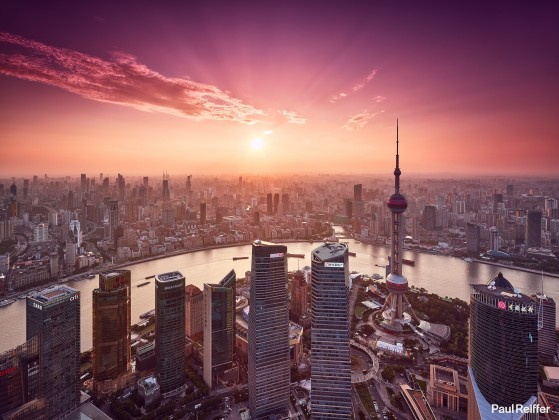 Commercial Image Licensing - Shanghai Sunset