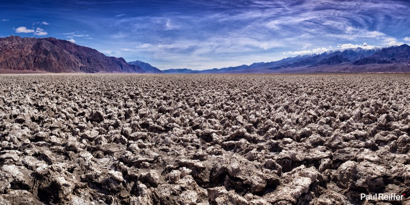 "Location : Death Valley, USA <a href=""https://www.paulreiffer.com/buy-prints/devils-golf-course/"">- Buy the limited edition print</a>"