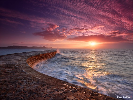 "Location : Dorset, United Kingdom <a href=""https://www.paulreiffer.com/buy-prints/breakwater/"">- Buy the limited edition print</a>"