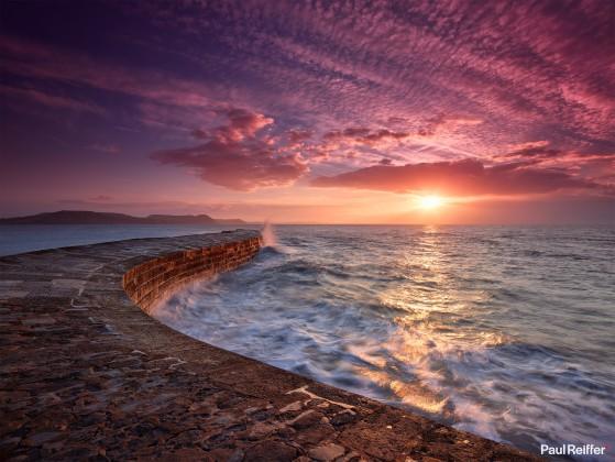 "Location : Dorset, United Kingdom <a href=""https://www.paulreiffer.com/buy-prints/breakwater/"">- Buy the limited edition print</a>"