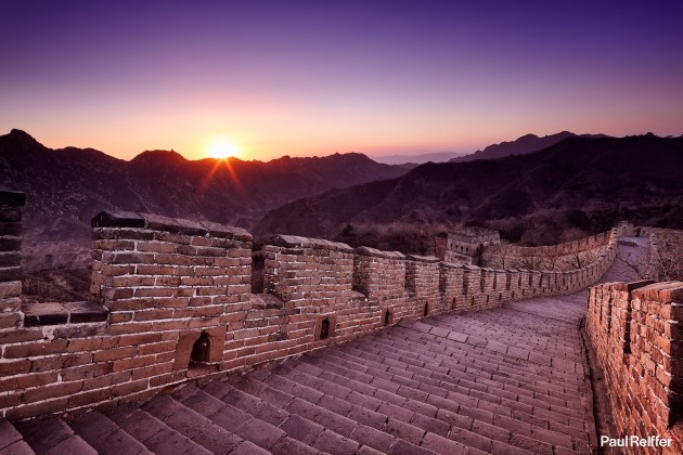 "Location : Great Wall, China <a href=""https://www.paulreiffer.com/buy-prints/over-the-wall/"">- Buy the limited edition print</a>"