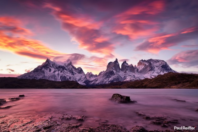 "Location : Torres Del Paine, Chile <a href=""https://www.paulreiffer.com/buy-prints/southern-fire/"">- Buy the limited edition print</a>"