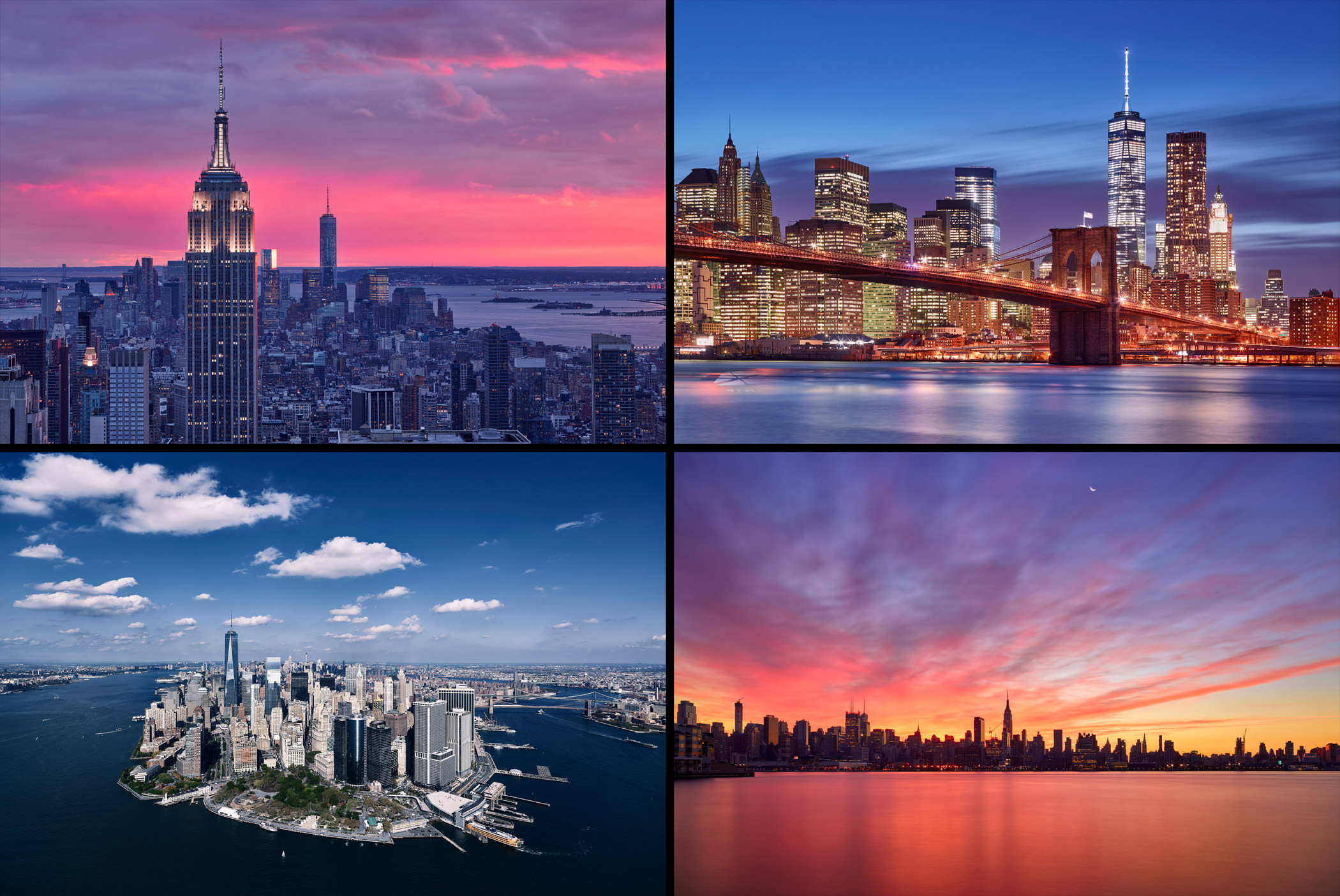 New York Combined Montage City Cityscape Skyscrapers Paul Reiffer Photographer Professional Landscapes Manhattan