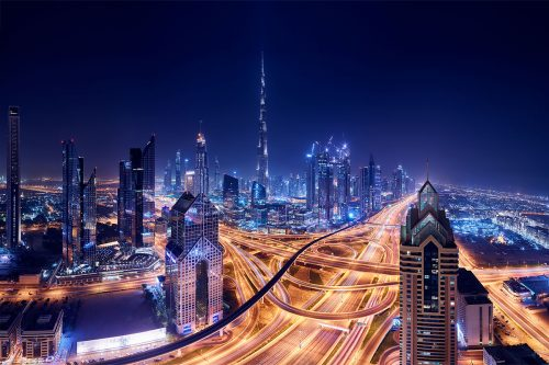 Paul Reiffer Dubai Photographic Workshops Landscape Location UAE Freeway Interchange Burj Khalifa Shangri La Downtown Skyscrapers Night Private Luxury All Inclusive Photo Phase One