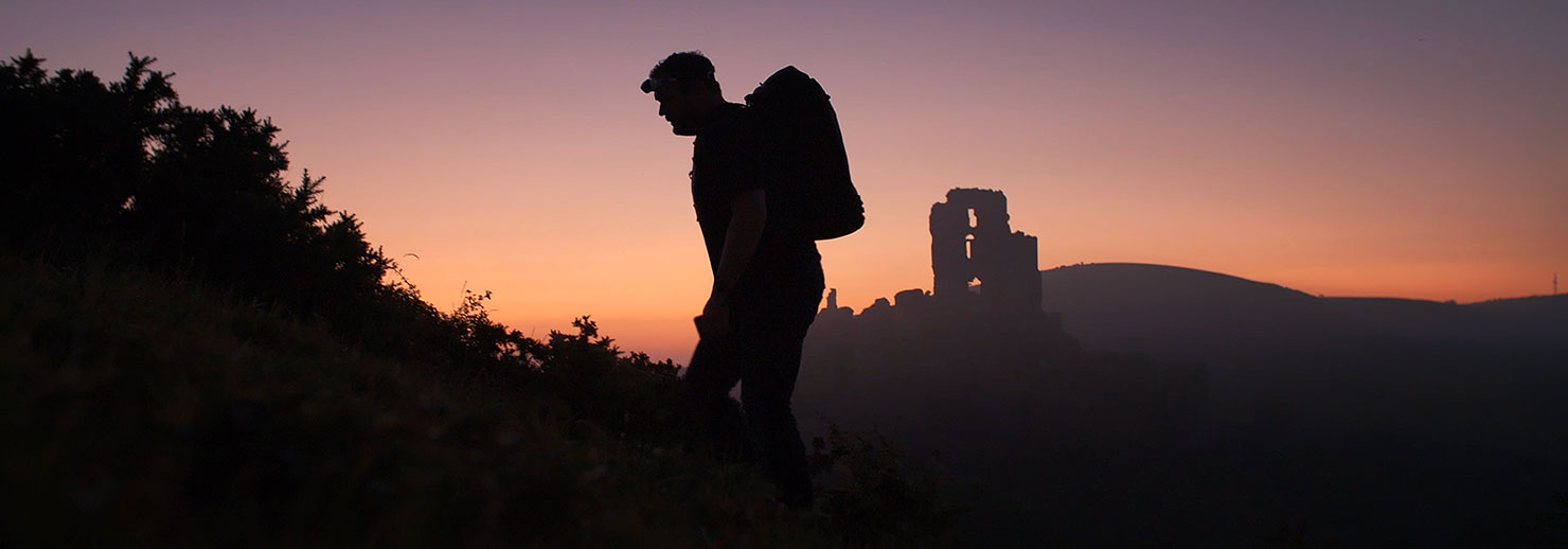 Paul Walking Corfe Castle Sunrise Reiffer Photographer Landscape Fine Art Prints Details How Bts Movie