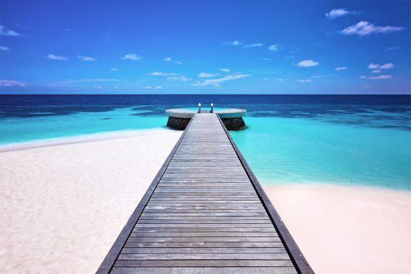 Huvafen Fushi Maldives Lonu Veyo Saltwater Floatation Pool Jetty Iconic Hotel Hospitality Photography Luxury Resort Paul Reiffer Commercial Photographer